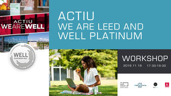 Actiu – We are LEED and WELL PLATINUM című rendezvény